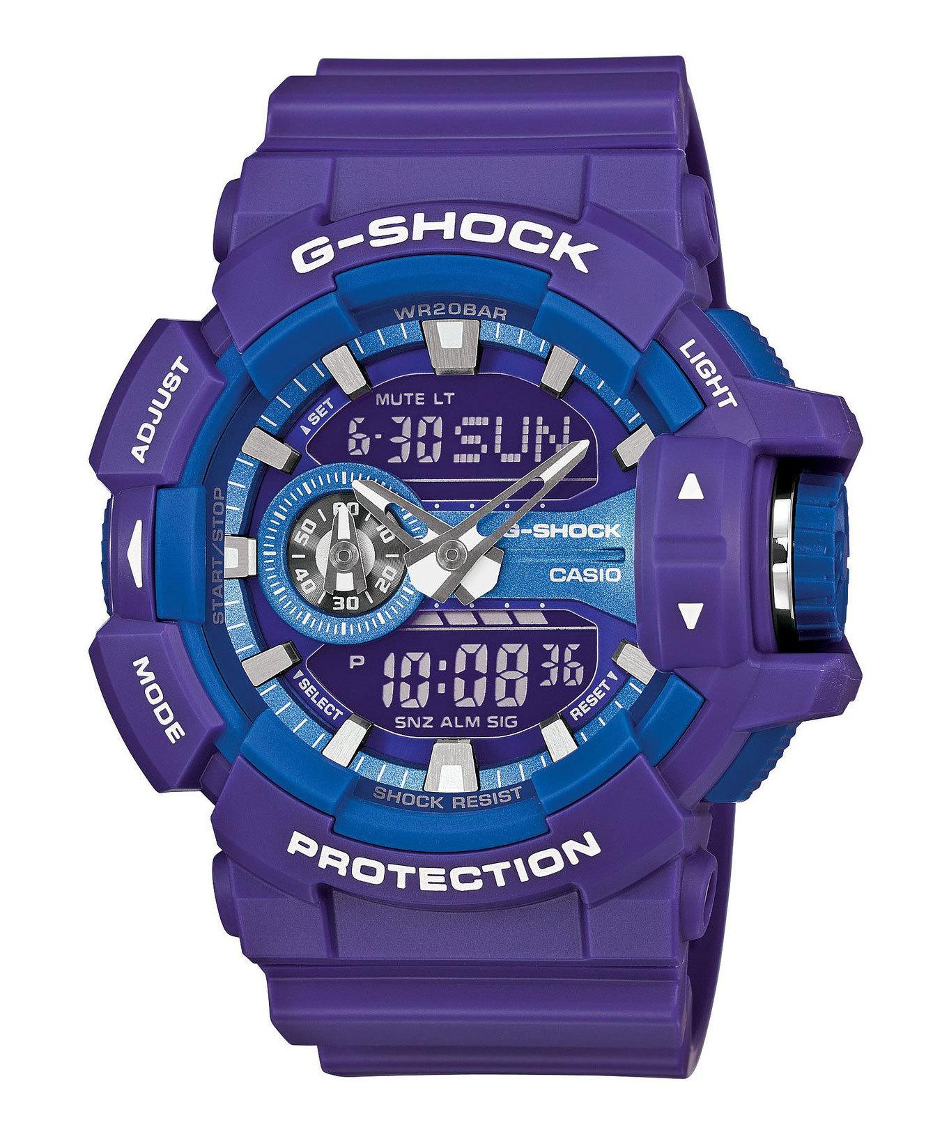 Casio G-SHOCK GA-400A-6A / GA-400A-6AER - мужские наручные часыCasio<br><br><br>Бренд: Casio<br>Модель: Casio GA-400A-6A<br>Артикул: GA-400A-6A<br>Вариант артикула: GA-400A-6AER<br>Коллекция: G-SHOCK<br>Подколлекция: None<br>Страна: Япония<br>Пол: мужские<br>Тип механизма: кварцевые<br>Механизм: None<br>Количество камней: None<br>Автоподзавод: None<br>Источник энергии: от батарейки<br>Срок службы элемента питания: None<br>Дисплей: стрелки + цифры<br>Цифры: отсутствуют<br>Водозащита: WR 200<br>Противоударные: есть<br>Материал корпуса: пластик<br>Материал браслета: пластик<br>Материал безеля: None<br>Стекло: минеральное<br>Антибликовое покрытие: None<br>Цвет корпуса: None<br>Цвет браслета: None<br>Цвет циферблата: None<br>Цвет безеля: None<br>Размеры: None<br>Диаметр: None<br>Диаметр корпуса: None<br>Толщина: None<br>Ширина ремешка: None<br>Вес: 70 г<br>Спорт-функции: секундомер, таймер обратного отсчета<br>Подсветка: дисплея<br>Вставка: None<br>Отображение даты: вечный календарь, число, месяц, день недели<br>Хронограф: None<br>Таймер: None<br>Термометр: None<br>Хронометр: None<br>GPS: None<br>Радиосинхронизация: None<br>Барометр: None<br>Скелетон: None<br>Дополнительная информация: защита от магнитных полей, ежечасный сигнал, повтор сигнала будильника, автоподсветка, функция включения/отключения звука кнопок, элемент питания SR927W ? 2, срок службы батарейки 3 года<br>Дополнительные функции: второй часовой пояс, будильник (количество установок: 5)