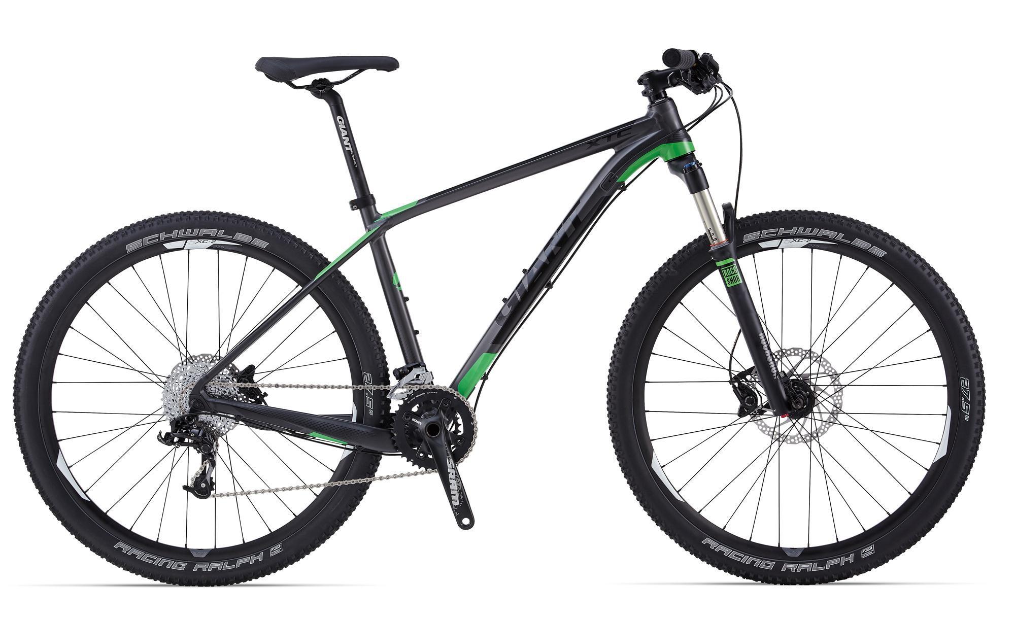 Giant XTC 27.5 1 (2014)Горные<br>Линейка Giant XTC 27.5 2014 создавалась, в общей сумме, больше 10 лет. 10 лет инноваций, прогресса, тестов и движения. И вот перед вами одни из самых технически адаптированных в мире велосипедов для кросс-кантри !<br>Giant XTC 27.5 1 Team (2014) – вторая модель в линейке, но это не значит, что у нее меньше функционала.<br>Навеска от Shimano и Sram. Трансмиссия уровня Sram X7-X9 – одно из лучших решений для велосипедов такого класса. Надежная, безотказная работа переключателя Sram X9 проверена уже не одним поколением велосипедистов.<br>Тормоза уровня Shimano Deore– это лучший гарант безотказной работы в любых условиях. Стоит отметить, что тормоза с системой ServoWave уменьшают риск закипания до минимума, а так же повышают уровень контроля тормозного усилия.<br>Вилка RockShox Reba RL 27.5 – обладает отличными характеристиками работы, легка в обслуживании и может быть модернизирована.<br>Элегантный, быстрый и надежный велосипед для настоящего кросс-кантри.<br>