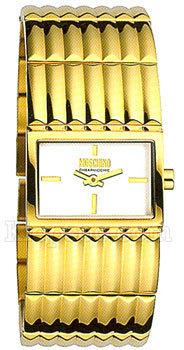 Moschino MW0365 - женские наручные часы из коллекции LadiesMoschino<br>Часы, минуты. Корпус и браслет из стали. Размер корпуса 27.5 x 22 мм.<br><br>Бренд: Moschino<br>Модель: Moschino MW0365<br>Артикул: MW0365<br>Вариант артикула: None<br>Коллекция: Ladies<br>Подколлекция: None<br>Страна: Италия<br>Пол: женские<br>Тип механизма: кварцевые<br>Механизм: None<br>Количество камней: None<br>Автоподзавод: None<br>Источник энергии: от батарейки<br>Срок службы элемента питания: None<br>Дисплей: стрелки<br>Цифры: отсутствуют<br>Водозащита: WR 30<br>Противоударные: None<br>Материал корпуса: нерж. сталь, PVD покрытие: позолота (полное)<br>Материал браслета: нерж. сталь, PVD покрытие (полное): позолота<br>Материал безеля: None<br>Стекло: минеральное<br>Антибликовое покрытие: None<br>Цвет корпуса: None<br>Цвет браслета: None<br>Цвет циферблата: None<br>Цвет безеля: None<br>Размеры: 27.5x22 мм<br>Диаметр: None<br>Диаметр корпуса: None<br>Толщина: None<br>Ширина ремешка: None<br>Вес: None<br>Спорт-функции: None<br>Подсветка: None<br>Вставка: None<br>Отображение даты: None<br>Хронограф: None<br>Таймер: None<br>Термометр: None<br>Хронометр: None<br>GPS: None<br>Радиосинхронизация: None<br>Барометр: None<br>Скелетон: None<br>Дополнительная информация: None<br>Дополнительные функции: None