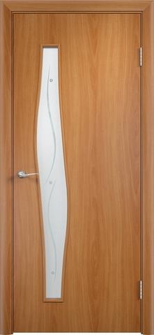 Дверь Верда С-10 (фьюзинг), цвет миланский орех, остекленная
