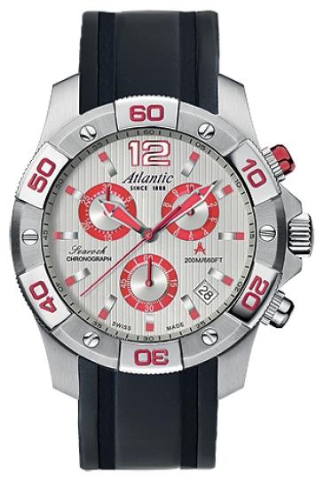 Atlantic 87471.42.25R - мужские наручные часы из коллекции SearockAtlantic<br><br><br>Бренд: Atlantic<br>Модель: Atlantic 87471.42.25R<br>Артикул: 87471.42.25R<br>Вариант артикула: None<br>Коллекция: Searock<br>Подколлекция: None<br>Страна: Швейцария<br>Пол: мужские<br>Тип механизма: кварцевые<br>Механизм: ETA G10.211<br>Количество камней: None<br>Автоподзавод: None<br>Источник энергии: от батарейки<br>Срок службы элемента питания: None<br>Дисплей: стрелки<br>Цифры: арабские<br>Водозащита: WR 200<br>Противоударные: None<br>Материал корпуса: нерж. сталь<br>Материал браслета: полиуретан<br>Материал безеля: None<br>Стекло: сапфировое<br>Антибликовое покрытие: None<br>Цвет корпуса: None<br>Цвет браслета: None<br>Цвет циферблата: None<br>Цвет безеля: None<br>Размеры: 45 мм<br>Диаметр: None<br>Диаметр корпуса: None<br>Толщина: None<br>Ширина ремешка: None<br>Вес: None<br>Спорт-функции: секундомер<br>Подсветка: стрелок<br>Вставка: None<br>Отображение даты: число<br>Хронограф: есть<br>Таймер: None<br>Термометр: None<br>Хронометр: None<br>GPS: None<br>Радиосинхронизация: None<br>Барометр: None<br>Скелетон: None<br>Дополнительная информация: None<br>Дополнительные функции: None