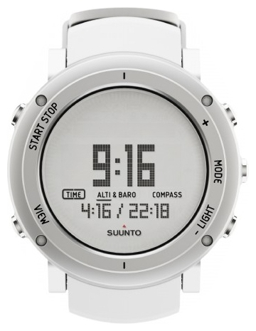 Suunto SS018735000 - мужские наручные часы из коллекции CoreSuunto<br><br><br>Бренд: Suunto<br>Модель: Suunto Core Alu Pure White<br>Артикул: SS018735000<br>Вариант артикула: None<br>Коллекция: Core<br>Подколлекция: None<br>Страна: Финляндия<br>Пол: мужские<br>Тип механизма: кварцевые<br>Механизм: None<br>Количество камней: None<br>Автоподзавод: None<br>Источник энергии: от батарейки<br>Срок службы элемента питания: None<br>Дисплей: цифры<br>Цифры: None<br>Водозащита: WR 30<br>Противоударные: None<br>Материал корпуса: нерж. сталь<br>Материал браслета: None<br>Материал безеля: None<br>Стекло: минеральное<br>Антибликовое покрытие: None<br>Цвет корпуса: None<br>Цвет браслета: None<br>Цвет циферблата: None<br>Цвет безеля: None<br>Размеры: None<br>Диаметр: None<br>Диаметр корпуса: None<br>Толщина: None<br>Ширина ремешка: None<br>Вес: None<br>Спорт-функции: глубиномер, высотомер, барометр, термометр, компас<br>Подсветка: None<br>Вставка: None<br>Отображение даты: None<br>Хронограф: есть<br>Таймер: None<br>Термометр: None<br>Хронометр: None<br>GPS: None<br>Радиосинхронизация: None<br>Барометр: None<br>Скелетон: None<br>Дополнительная информация: None<br>Дополнительные функции: второй часовой пояс, будильник
