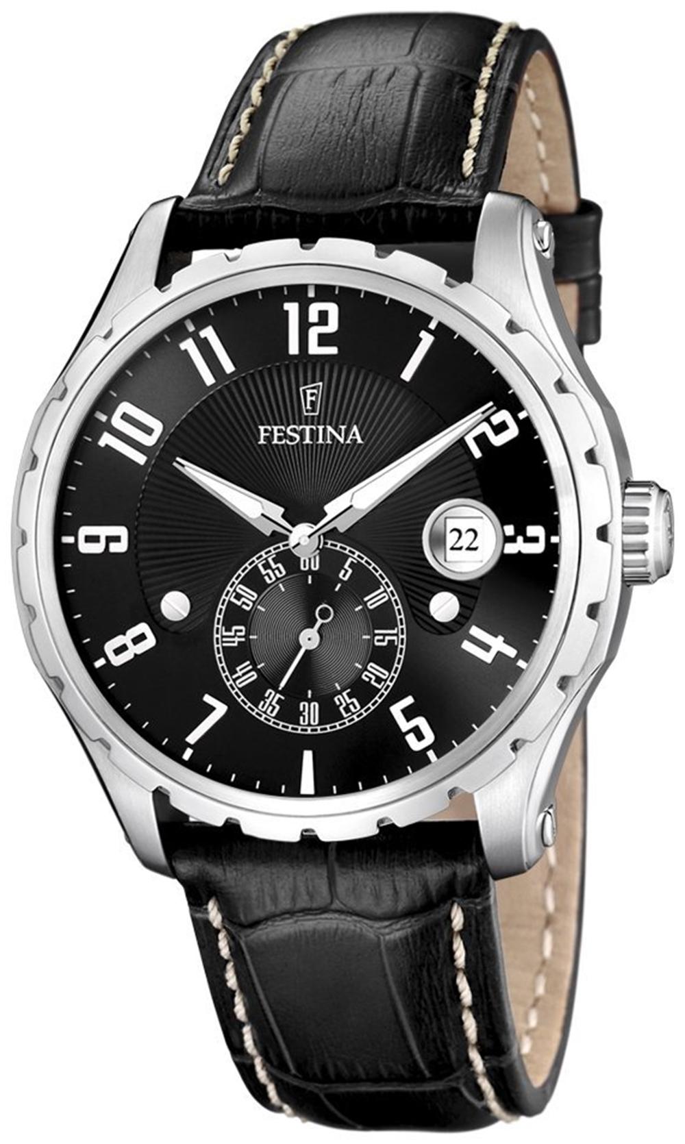 Festina F16486.4 - мужские наручные часы из коллекции ClassicFestina<br><br><br>Бренд: Festina<br>Модель: Festina F16486/4<br>Артикул: F16486.4<br>Вариант артикула: None<br>Коллекция: Classic<br>Подколлекция: None<br>Страна: Испания<br>Пол: мужские<br>Тип механизма: кварцевые<br>Механизм: None<br>Количество камней: None<br>Автоподзавод: None<br>Источник энергии: от батарейки<br>Срок службы элемента питания: None<br>Дисплей: стрелки<br>Цифры: арабские<br>Водозащита: WR 50<br>Противоударные: None<br>Материал корпуса: нерж. сталь<br>Материал браслета: кожа<br>Материал безеля: None<br>Стекло: минеральное<br>Антибликовое покрытие: None<br>Цвет корпуса: None<br>Цвет браслета: None<br>Цвет циферблата: None<br>Цвет безеля: None<br>Размеры: 44,5 мм<br>Диаметр: None<br>Диаметр корпуса: None<br>Толщина: None<br>Ширина ремешка: None<br>Вес: None<br>Спорт-функции: None<br>Подсветка: стрелок<br>Вставка: None<br>Отображение даты: число<br>Хронограф: None<br>Таймер: None<br>Термометр: None<br>Хронометр: None<br>GPS: None<br>Радиосинхронизация: None<br>Барометр: None<br>Скелетон: None<br>Дополнительная информация: None<br>Дополнительные функции: None