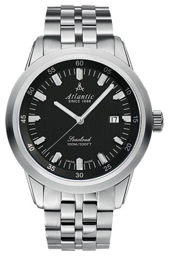 Atlantic 73365.41.61 - мужские наручные часы из коллекции SeacloudAtlantic<br><br><br>Бренд: Atlantic<br>Модель: Atlantic 73365.41.61<br>Артикул: 73365.41.61<br>Вариант артикула: None<br>Коллекция: Seacloud<br>Подколлекция: None<br>Страна: Швейцария<br>Пол: мужские<br>Тип механизма: кварцевые<br>Механизм: ETA F06.111<br>Количество камней: None<br>Автоподзавод: None<br>Источник энергии: от батарейки<br>Срок службы элемента питания: None<br>Дисплей: стрелки<br>Цифры: отсутствуют<br>Водозащита: WR 100<br>Противоударные: None<br>Материал корпуса: нерж. сталь<br>Материал браслета: нерж. сталь<br>Материал безеля: None<br>Стекло: сапфировое<br>Антибликовое покрытие: есть<br>Цвет корпуса: None<br>Цвет браслета: None<br>Цвет циферблата: None<br>Цвет безеля: None<br>Размеры: 43 мм<br>Диаметр: None<br>Диаметр корпуса: None<br>Толщина: None<br>Ширина ремешка: None<br>Вес: None<br>Спорт-функции: None<br>Подсветка: None<br>Вставка: None<br>Отображение даты: число<br>Хронограф: None<br>Таймер: None<br>Термометр: None<br>Хронометр: None<br>GPS: None<br>Радиосинхронизация: None<br>Барометр: None<br>Скелетон: None<br>Дополнительная информация: None<br>Дополнительные функции: None