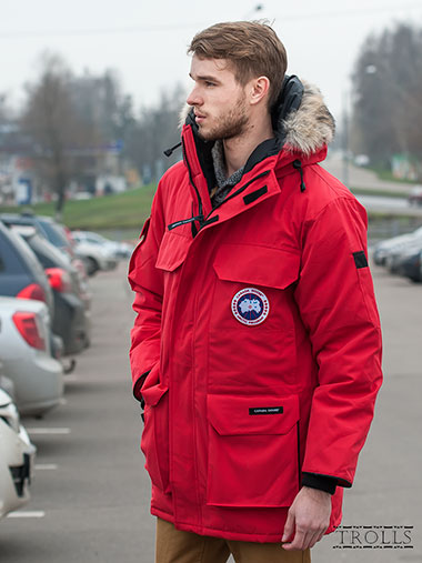 Canada goose красный мужской