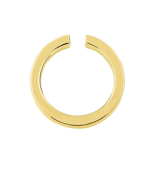 купите моносерьга-кафф из позолоченной латуни от Ina Beisnner - Kaeli in ear-hoop gold
