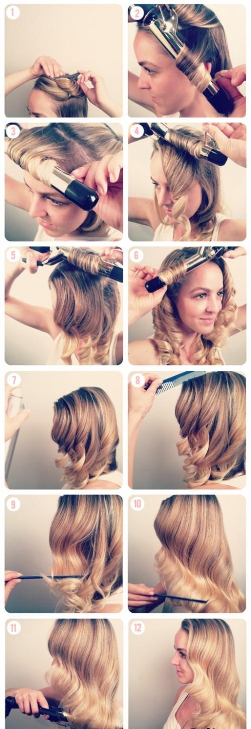 Укладка на средние волосы своими руками пошаговая