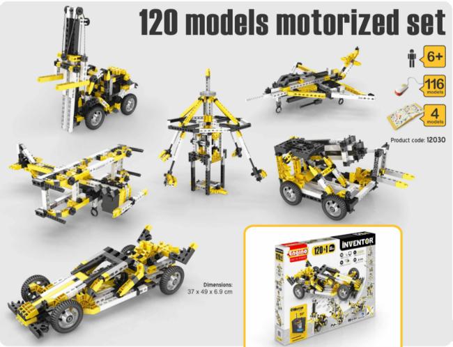 Engino 120 Моделей с Моторами