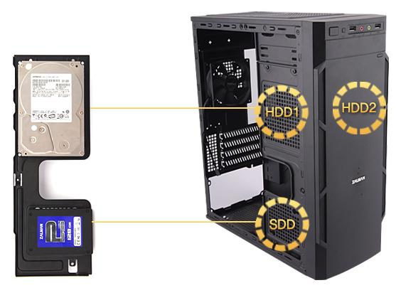 Простая установка HDD/SDD