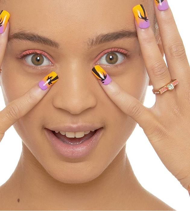 золотистое кольцо необычной формы от Maria Francesca Pepe - Lover ring