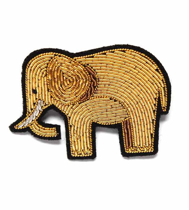 купите стильное украшение от французского бренда Macon&Lesquoy - Gold Elephant brooch