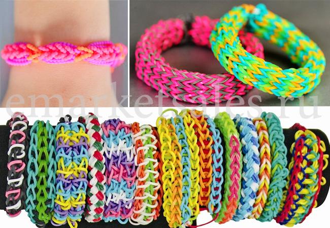 Резиночки для плетения браслетов виды плетения