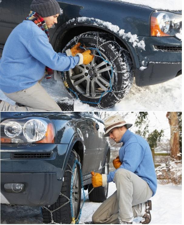 Как правильно установить цепи на шины