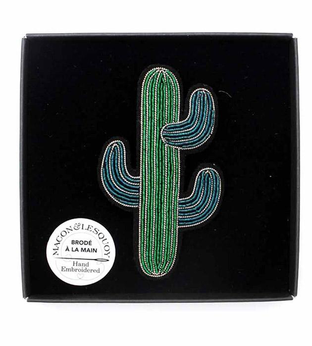 купите расшитая брошь в форме кактуса от Macon&Lesquoy - Cactus brooch