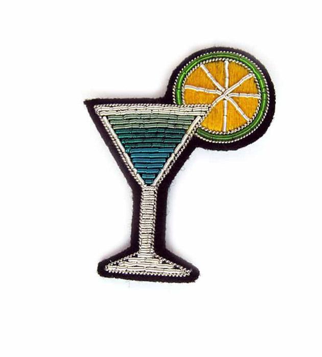 оригинальная брошь ручной работы Cocktail brooch от французского бренда Macon&Lesquoy