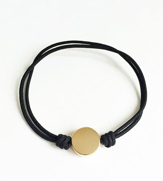 купите браслет-фенечка от испанского бренда Helena Rohner - Disc bracelet Black