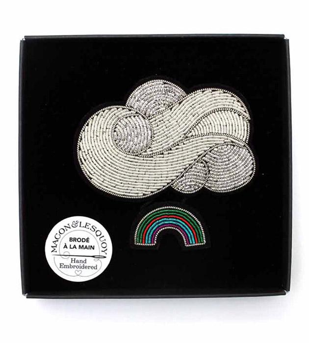 эффектная брошь ручной работы в форме облака от Macon&Lesquoy - Rainbow Cloud
