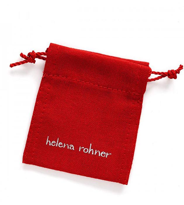 купите браслет-фенечка от испанского бренда Helena Rohner - Silver Boomerang bracelet Dark Grey