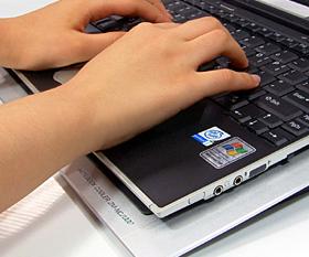 Резиновая прокладка не дает ноутбуку скользить.