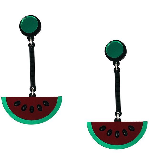 купите серьги в виде арбузных долек Red Watermelon от Jennifer Loiselle