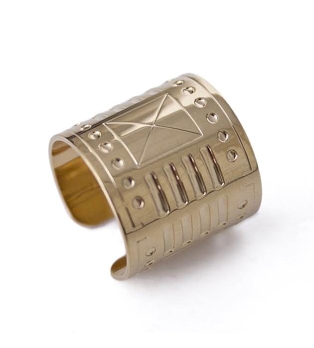кольцо из позолоченной латуни Afrocube от Chic Alors Paris
