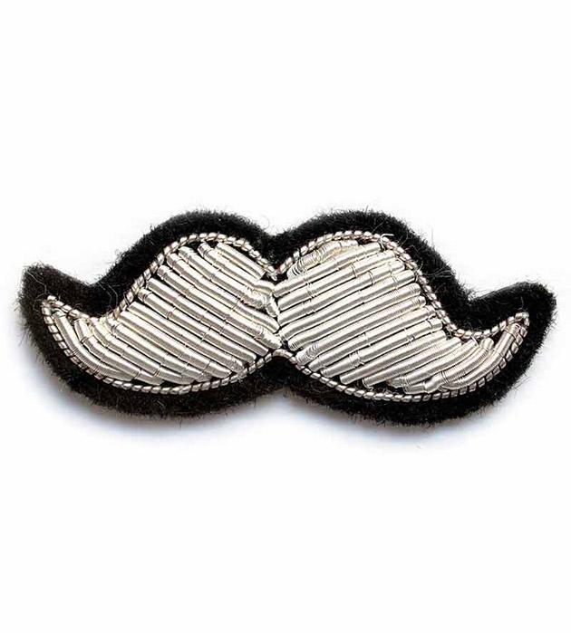 купите элегантная брошь ручной работы от французского бренда Macon&Lesquoy - Silver Moustache Small brooch