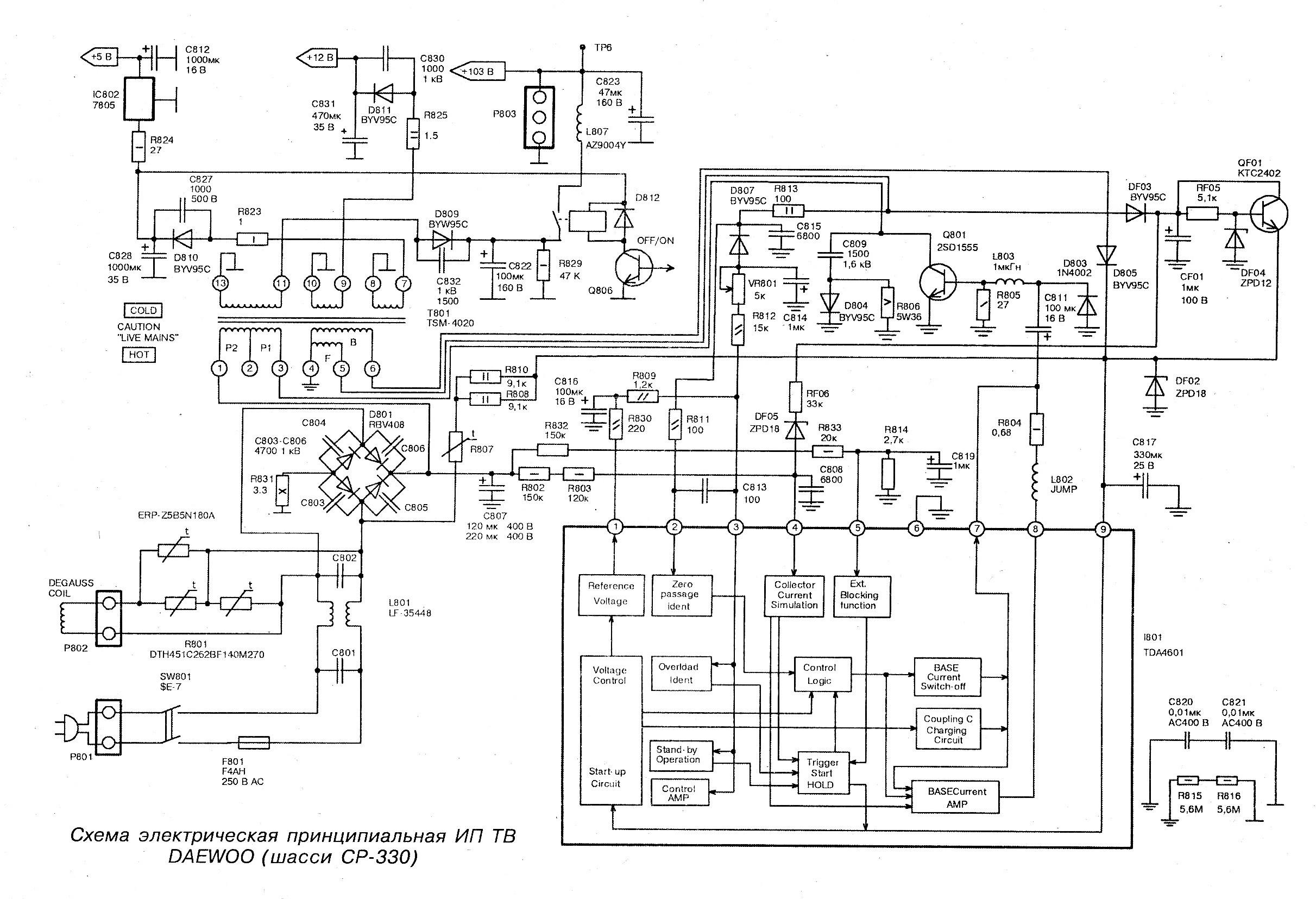 Схемы телевизора акира