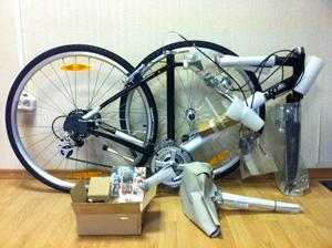 Заводская упаковка велосипеда