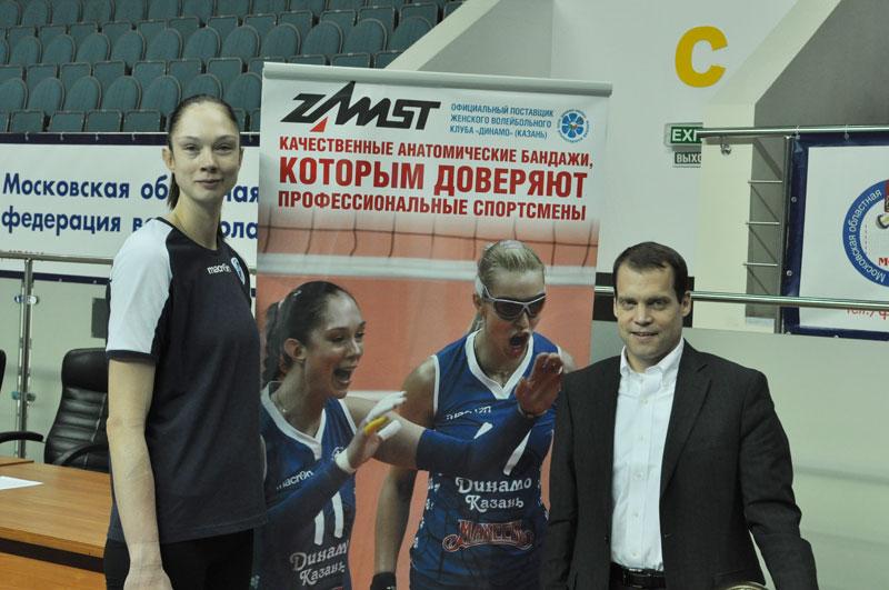 Игрок сборной России и Динамо-Казань Екатерина Гамова и Джеффри Рамсей