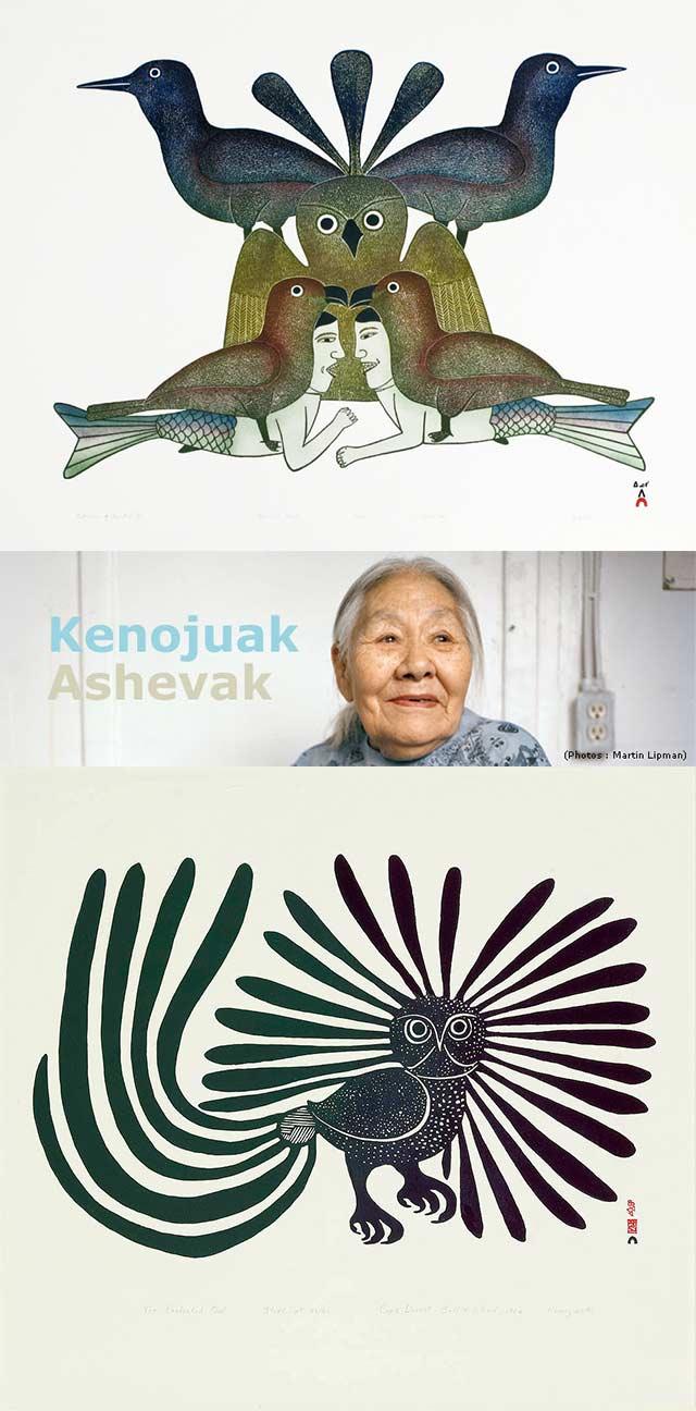 Kenoujak Ashevak и ее картины, которые вдозновили MAVA HAZE на создание коллекции украшений
