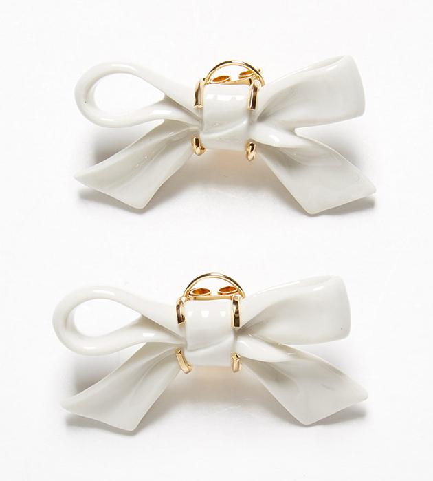 качественная испанская бижутерия от ANDRES GALLARDO - Bow little earrings
