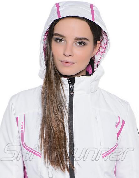 Горнолыжная куртка Hyra White-Fucsia HLG1340 женская