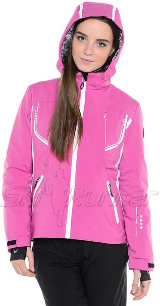 Горнолыжная куртка Hyra Fucsia-White HLG1340 женская