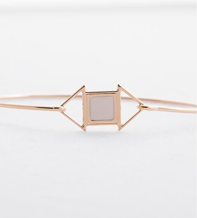 купите браслет в стиле арт-деко Edwin blanc от Chic Alors-Paris