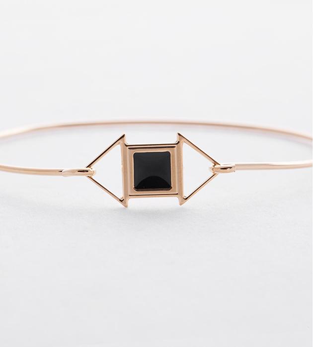купите изящный браслет в стиле арт-деко Edwin noir от Chic Alors-Paris