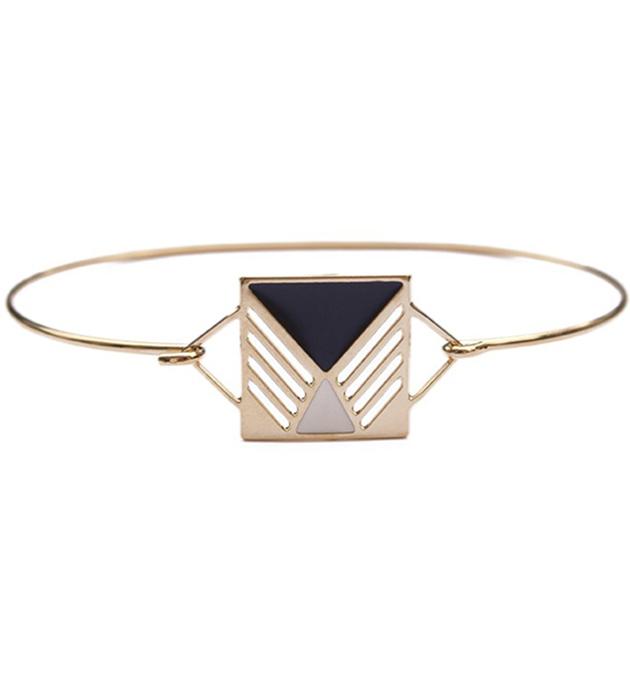 купите лакoничный браслет с эмалью от Chic Alors Paris - Jonc Rufus Noire&Ivore