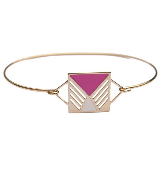 купите стильный браслет из позолоченной латуни от Chic Alors Paris - Jonc Rufus Rose&Ivore