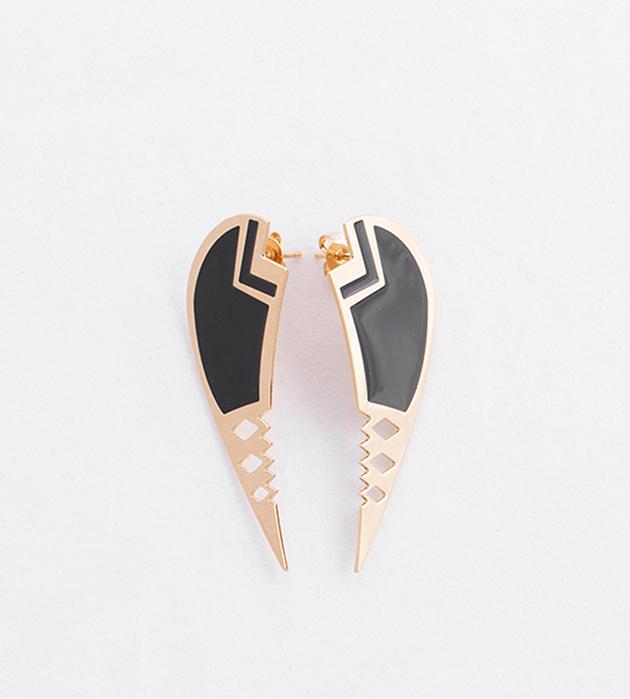 купите серьги с эмалью Cassius от Chic Alors-Paris