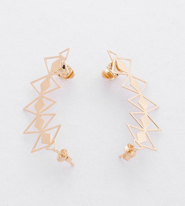 купите золотые серьги-каффы Wilma от Chic Alors-Paris