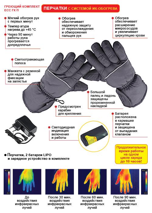 Перчатки с подогревом RedLaika - схема и принцип работы
