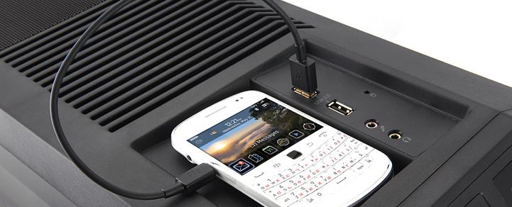 Возможность подключения смартфонов и жестких дисков