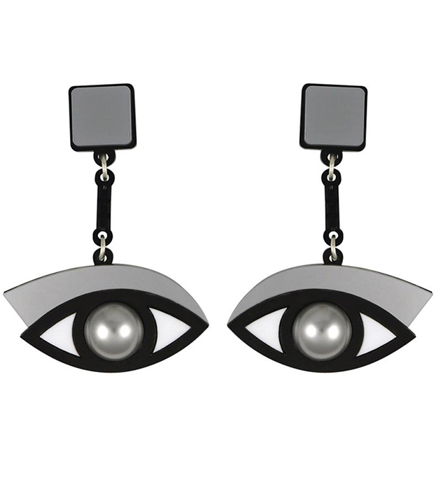 купите стильные серьги In The Blink of An Eye Silver от Jennifer Loiselle с жемчугом и кристаллами Swarovski