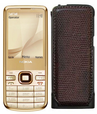 Nokia 6700 TV Duos Gold с чехлом АКБ