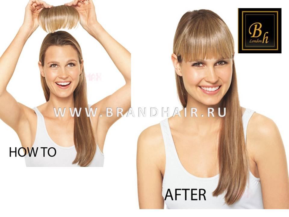 Заказать челку из натуральных волос на ободке