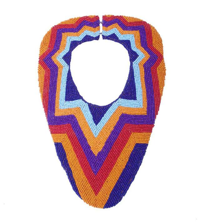 Массивное колье из разноцветного бисера Aleks от Papiroga
