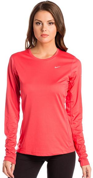 Рубашка беговая женская Nike Miler LS UV Top