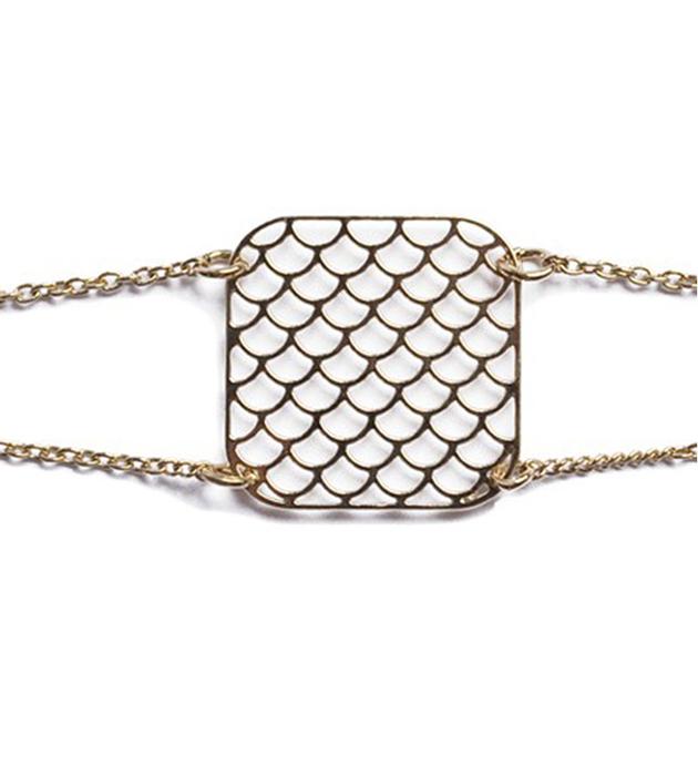 Ажурный браслет из позолоченной латуни AJOURE ALMA от Chic Alors-Paris