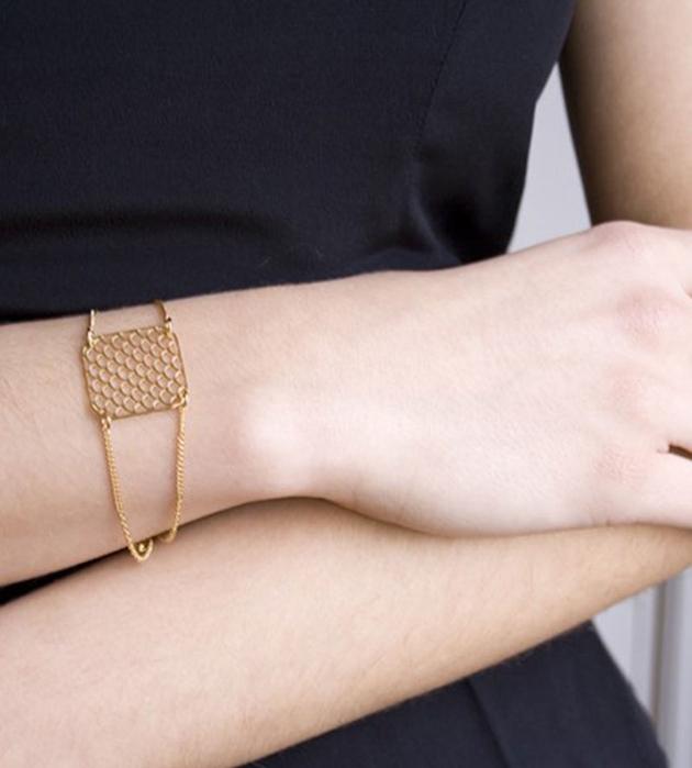 стильный браслет с ажурной вставкой AJOURE ALMA от Chic Alors-Paris