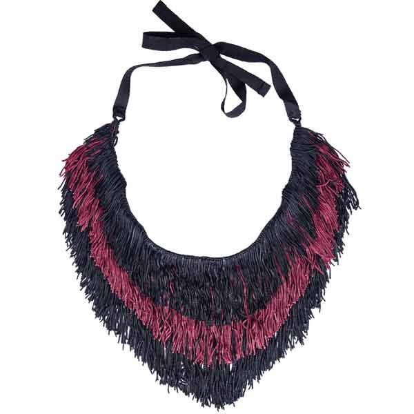 купить этническое колье-ожерелье из ткани фото картинки