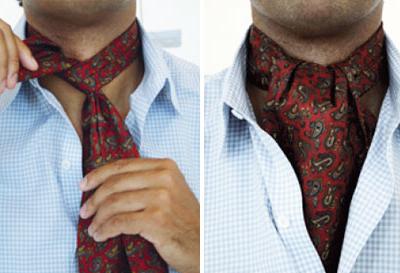 как правильно завязывать мужские шарфы